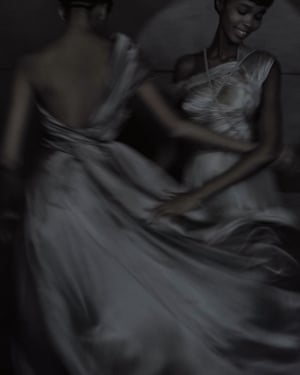 Dior spring/summer 2020 haute couture, modelled by Djenice Duarte and Judy Kinuthia. First published in Dior magazine, summer 2020