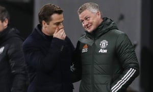 Fulham manager Scott Parker and Manchester United manager Ole Gunnar Solskjaer.
