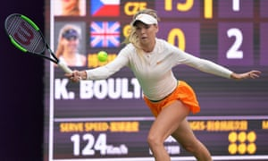 Katie Boulter was defeated by Karolina Pliskova in the quarter-finals of the Tianjin Open.