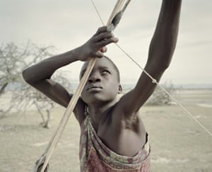 Fourteen-year-old Manu hones his archery skills
