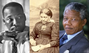 Martin Luther King, Mary Seacole and Nelson Mandela.