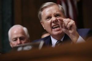 Lindsey Graham in his furious tirade.