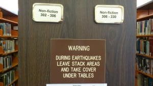 Earthquake Warning, Palm Springs Public Library