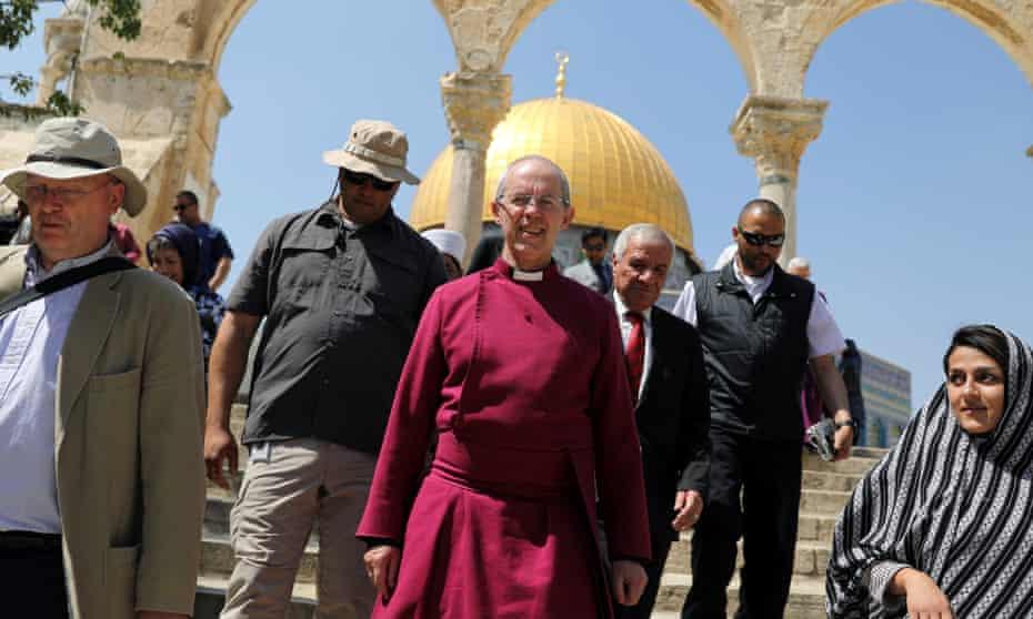 Justin Welby walking in Jerusalem's Old City last week.