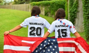 Wambach and Rapinoe fans.