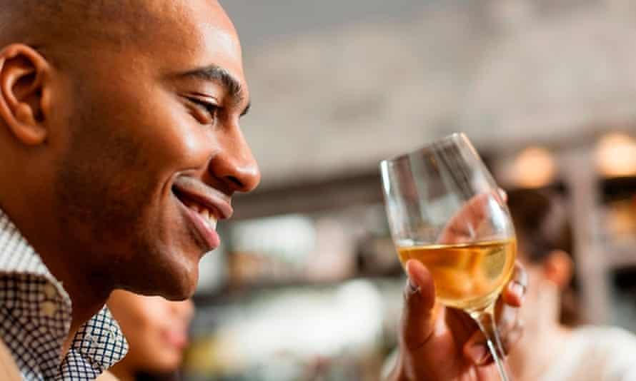 Man with wine glass