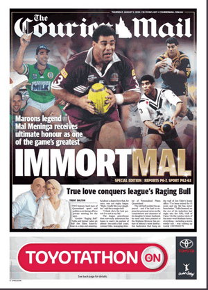 Courier-Mail front page