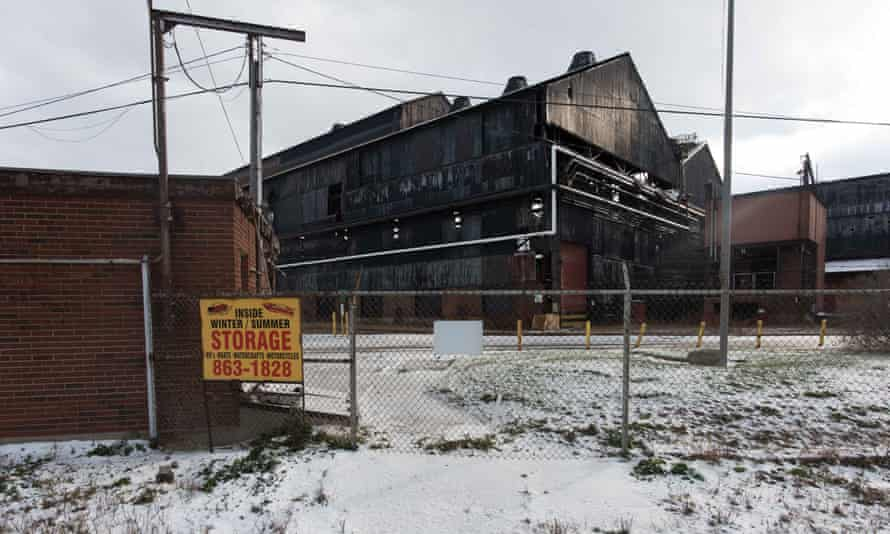 A boarded factory in upstate New York.