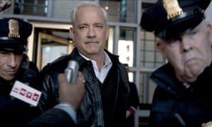 In the line of fire … Tom Hanks in Sully.