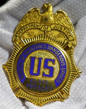 Elvis got his badge.