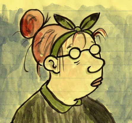 An illustrated self-portrait of the American cartoonist Lynda Barry, who is appearing in Sydney in November as part of Graphic festival.