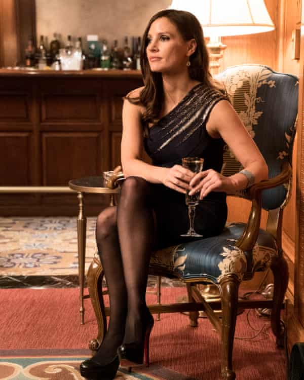 Exotic queenliness … Jessica Chastain in Molly's Game.