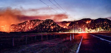 The Hunter Valley area on fire