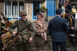Taking a break at the Railway in Wartime event.