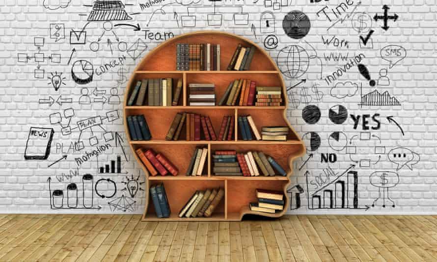 Wood Bookshelf in the Shape of Human Head