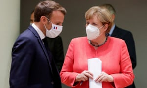 French president Emmanuel Macron and German chancellor Angela Merkel. Macron described it as a 'historic day for Europe'.