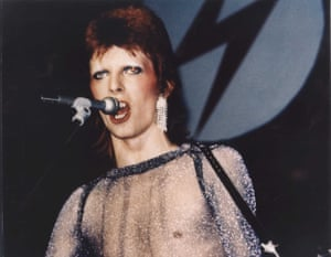'For a brief moment, we ruled New York and LA' … Bowie as Ziggy.