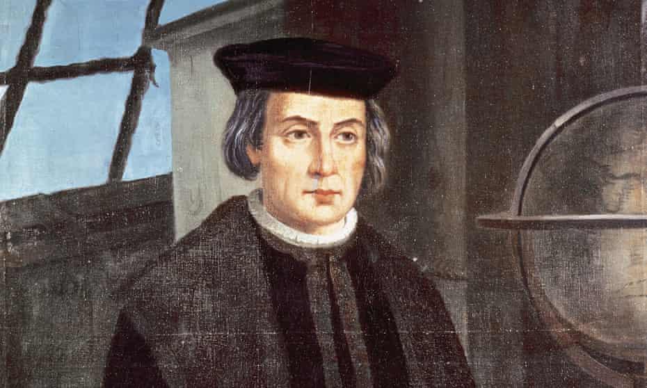 Christopher Columbus (1451-1506): portrait by Jose Roldan, monastery of La Rabida, Andalusia.
