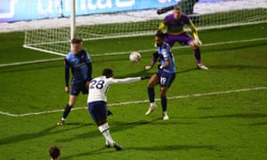 Tanguy NDombele scores his second and Spurs' fourth goal.