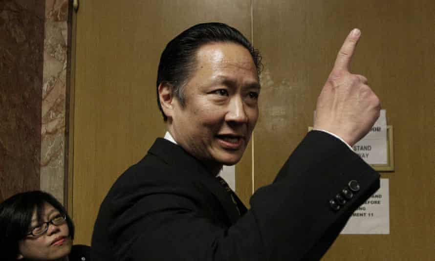 Jeff Adachi enters a courtroom at the Hall of Justice in San Francisco. Police said a raid on a journalist's home was part of an investigation into the leak of a confidential police report on the death of Adachi.