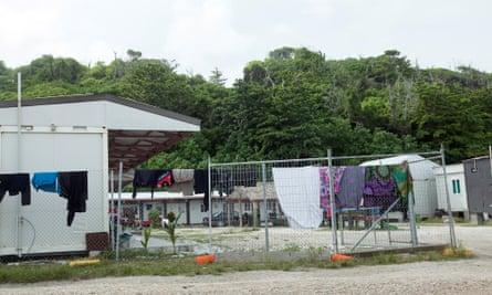 A refugee camp on Nauru