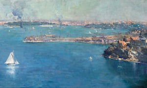 Sydney Harbour 1907 by Arthur Streeton which shows the city from Mosman. It sold for $2.07m in Sydney on Wednesday.