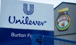 Unilever's Burton upon Trent factory.