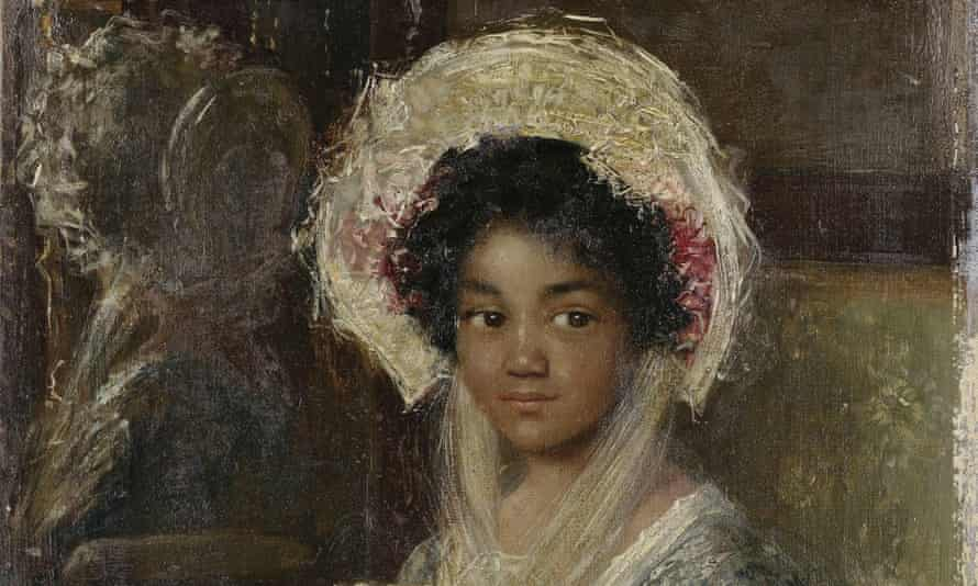 Young Girl Holding a Fan by Simon Maris