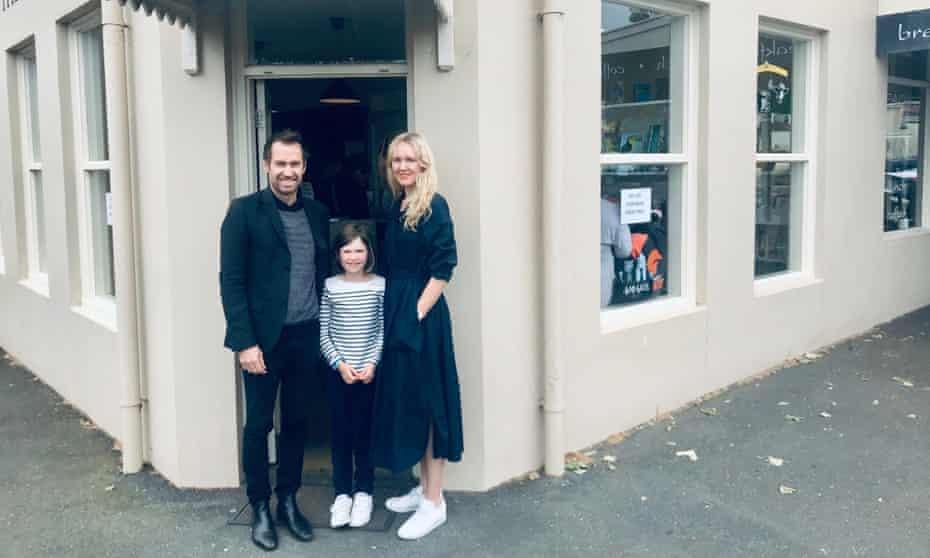 Jayne Tuttle and her family in Australia