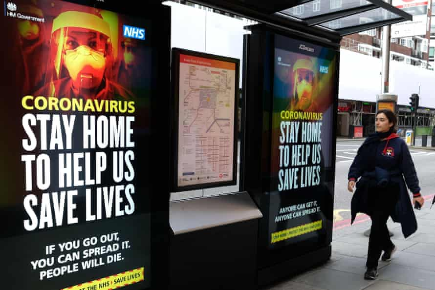 poster warning stay home to save lives