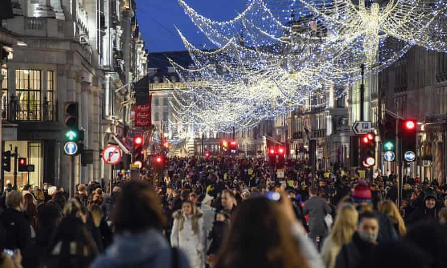 Shoppers in Regent Street, central London, on Saturday before the announcement was made.