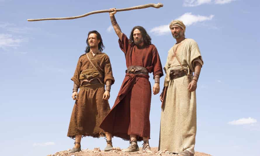 A scene from the TV miniseries The Ten Commandments, which was filmed in Morocco