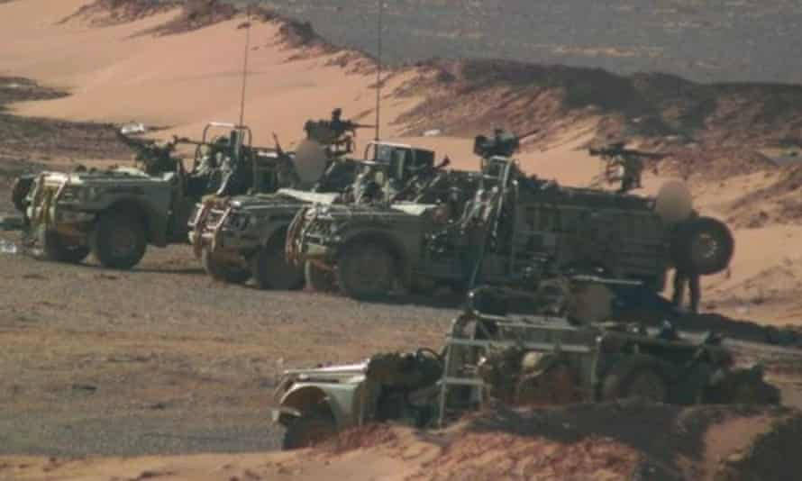 Images obtained by the BBC seem to show British special forces patrolling near a rebel army base close to the Syria-Iraq border.