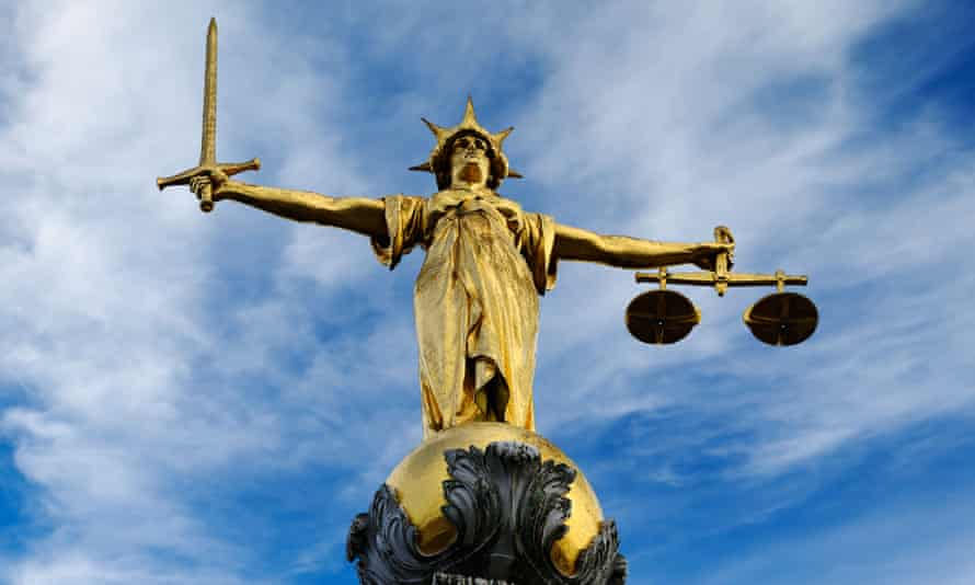 Lady Justice statue at London's central criminal court.