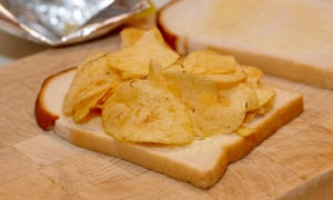 Not so bad … crisps with bread
