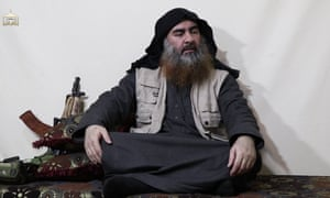 Abu Bakr al-Baghdadi appears in an Isis propaganda video.
