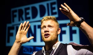 'Infredible' … the cricketer in Freddie Flintoff: 2nd Innings at the Pleasance Grand in Edinburgh.