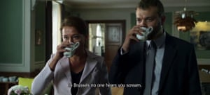 A still from the Borgen episode in which a troublesome opponent is sidelined to Brussels