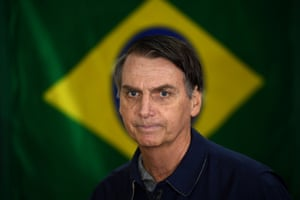 Homophobic rhetoric … election winner Jair Bolsonaro.