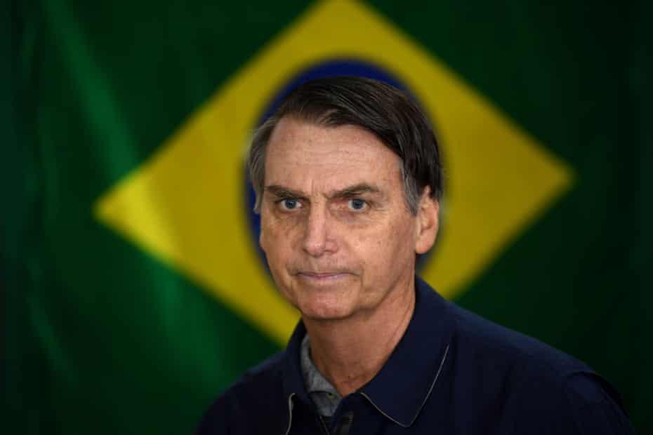 Homophobic rhetoric … election winner Jair Bolsonaro.