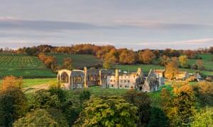 Egglestone Abbey, Barnard Castle, Teesdale, County Durham UK.