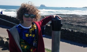 George in North Berwick, with Bass Rock in the distance.