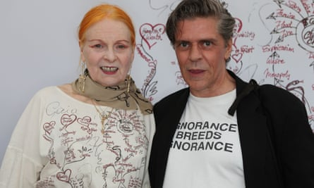Judy Blame with Vivienne Westwood, left.