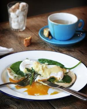 Coffee and eggs at The Plough Harborne, Birmingham.