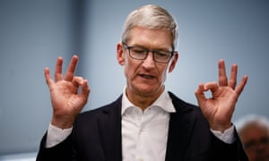 Apple chief executive Tim Cook said: 'We have a deep sense of responsibility to give back to our country.'