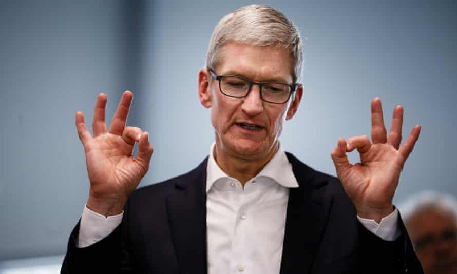 Apple chief executive Tim Cook says that the company's products are not for the rich.