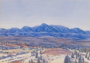 Mount Giles from sandhills near Gilbert Springs (c. 1937) by Albert Namatjira