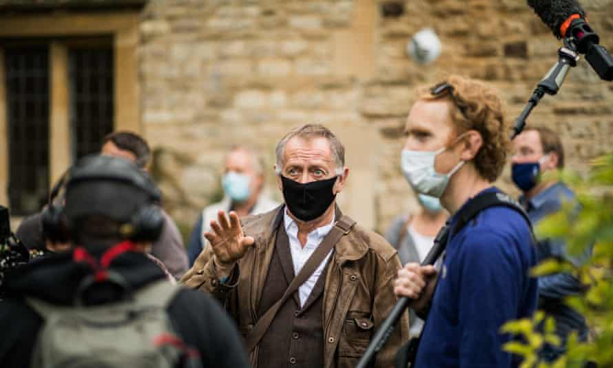 Norman Stone (centre) filming The Most Reluctant Converton on location in Oxford.