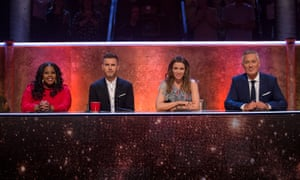 Amber Riley, Gary Barlow, Dannii Minogue and Martin Kemp, the panel on Let It Shine.