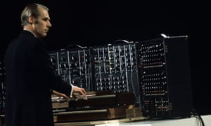 George Martin at the synthesiser
